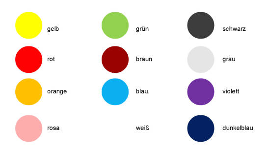 podstawowe kolory po niemiecku